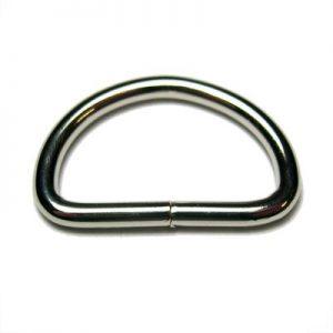 D-Ring staal vernikkeld