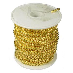 Kogelketting Goud kleurig vermessingd